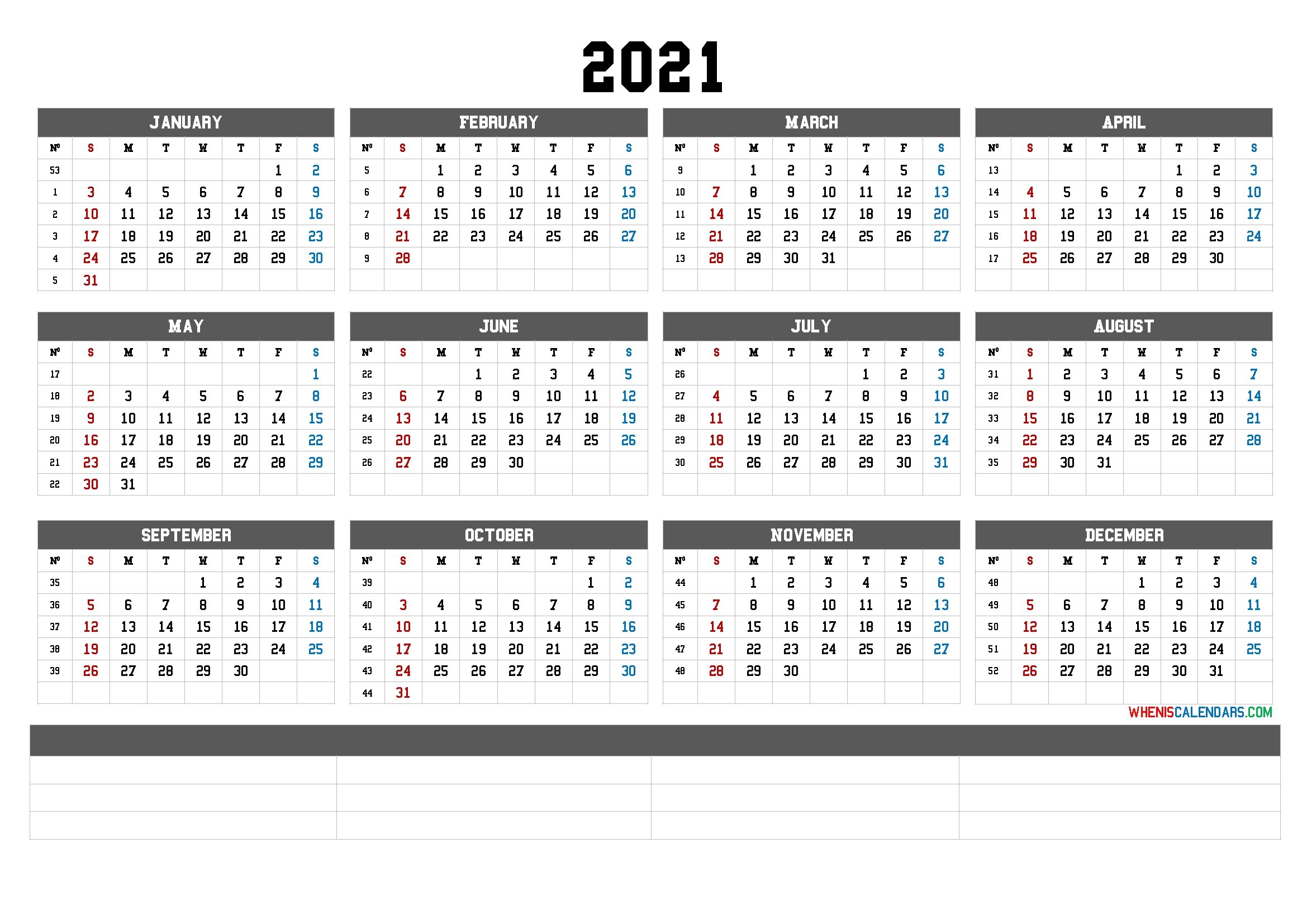 Printable 2021 Yearly Calendar With Week Numbers - Calendraex within Calendar For Year 2021 With Weeks Numbered Graphics