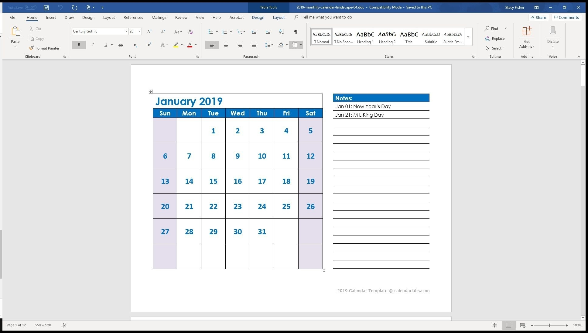 Printable Calendar With Lines | Ten Free Printable Calendar 2020-2021 for Calendar With Lines And Times 2021 Image