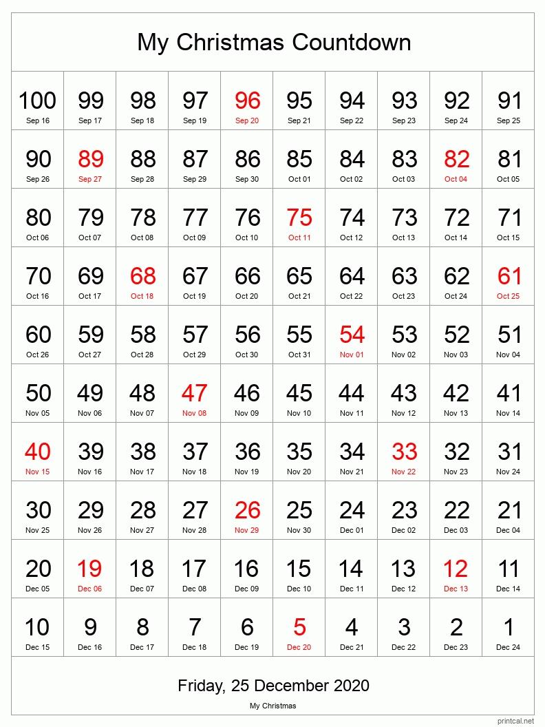 Printable Countdown Calendar regarding Retirement Countdown Calendar For Desktop Graphics