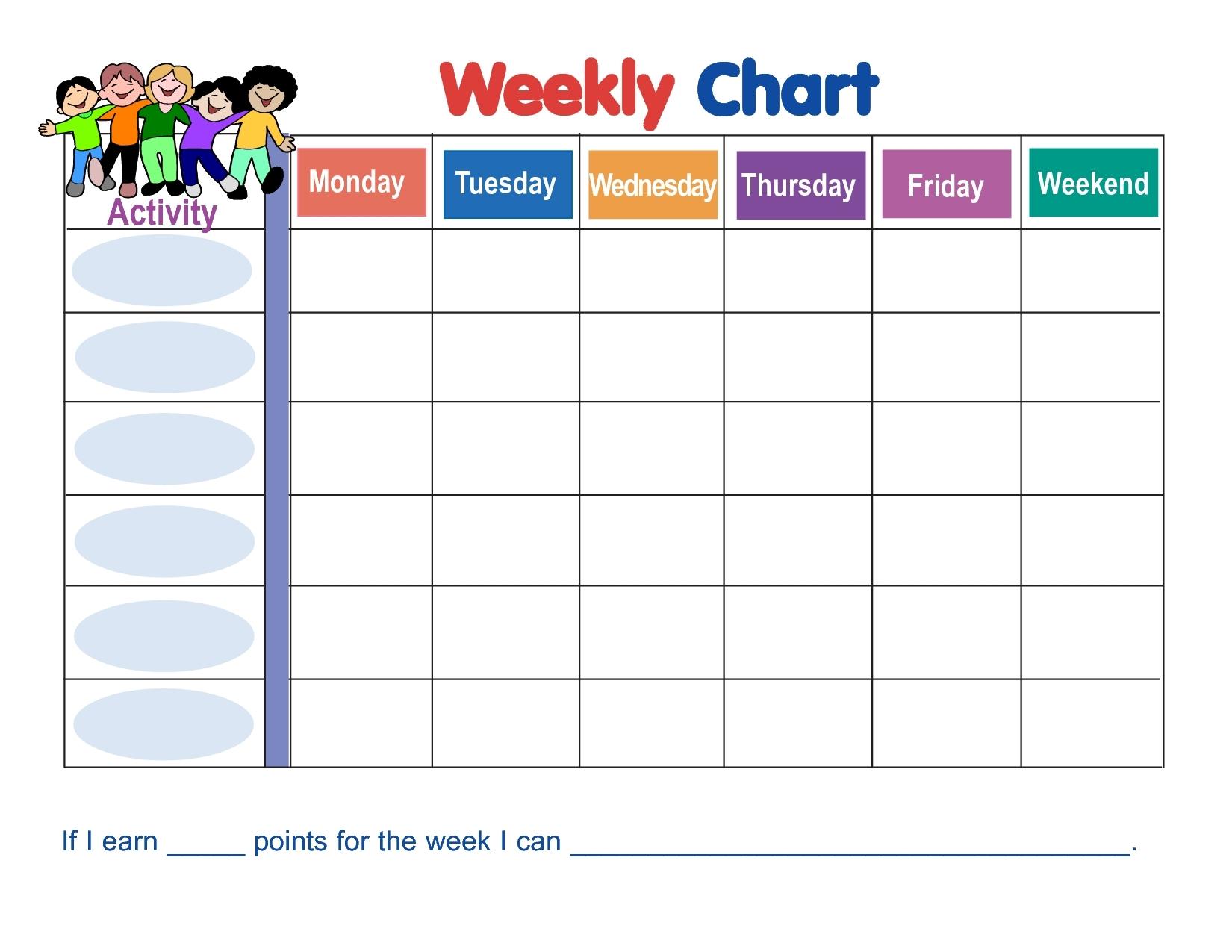 Printable Monday Through Friday Chart - Calendar Inspiration Design with Printable Calendar Weekly Mon - Fri Graphics