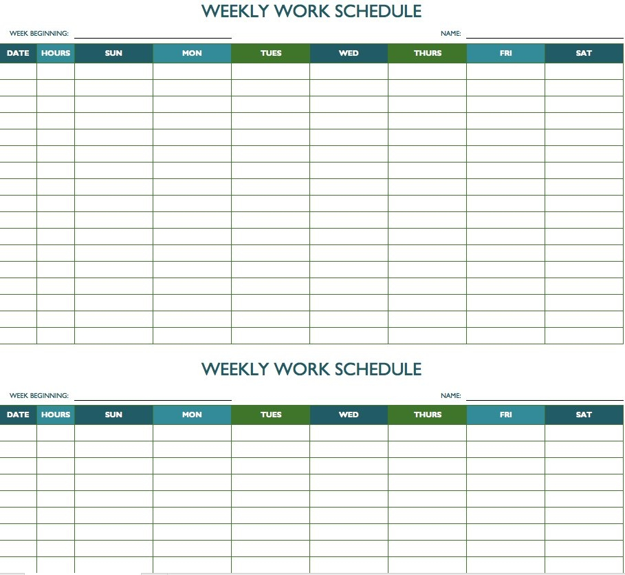 Printable Weekly And Biweekly Schedule Templates For Excel | Calendar Template 2020 for 90 Day Expiration Calendar