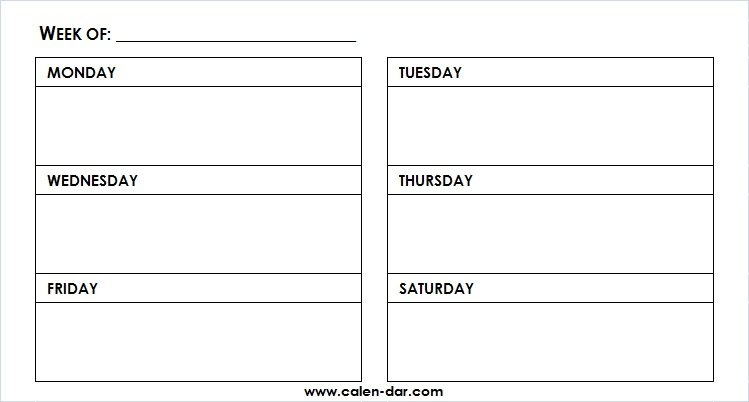 Printable Weekly Calendar Template Monday-Friday With Time Slots - Image #5203245 On Favim in Printable Calendar Weekly Mon - Fri