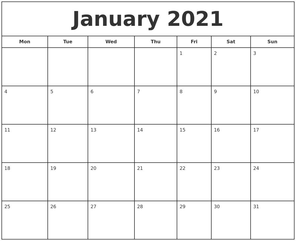 Printfree Calendar 2021 | Free 2021 Printable Calendars with Calendar 2021 Brunei For Print