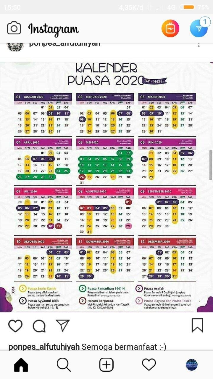 Puasa Sunnah Kalender Puasa 2021 Pdf in Kalender Islam 2021 Malaysia