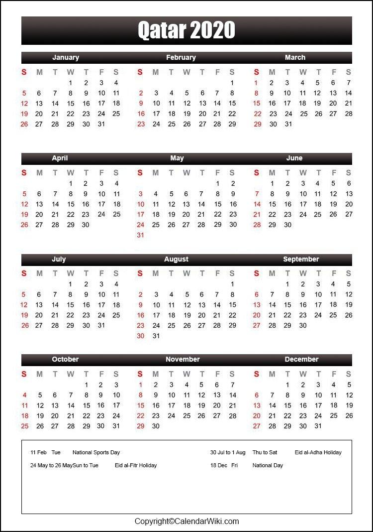 Qatar Holiday List 2021 - Dayholie inside Bangladesh Government Calendar 2021