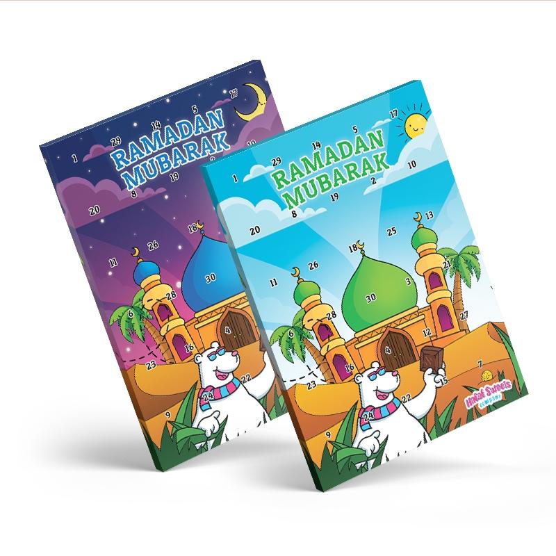 Ramadan Chocolate Calendar 2021 - Mosque In The Day - Halal Sweets Company within Ramadan In America 2021 Free Calendar Image