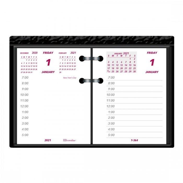Refill 2021 For Daily Desk Calendar C1S | Brownline inside 2021 Broadcast Calendar For Media