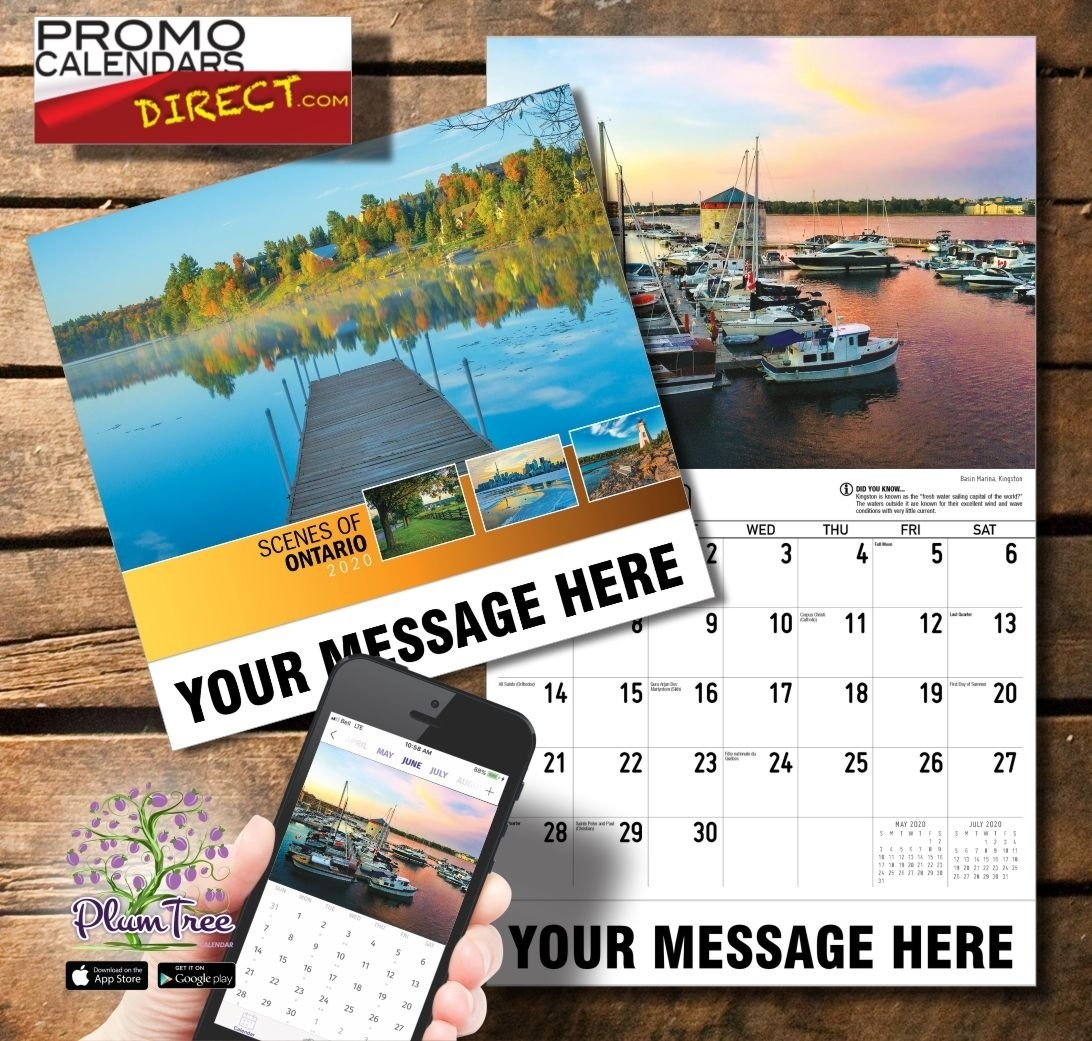 Scenes Of Ontario | Promo Calendars, Business Promotion, Marketing Method for Ontario Calendar 2021 With Holidays