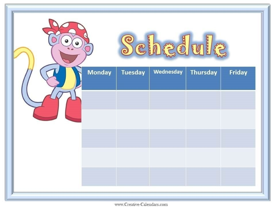 Schedule Template Monday Through Friday The Modern Rules Of Schedule Template Monday Through with Printable Calendar Weekly Mon - Fri Graphics