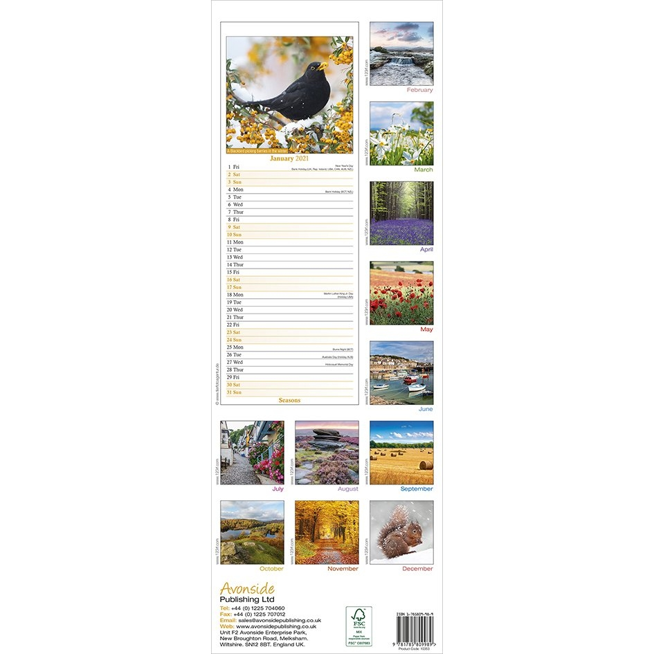 Seasons (Slim) 2021 Calendar with regard to Ilustrate Season Calendar 2021