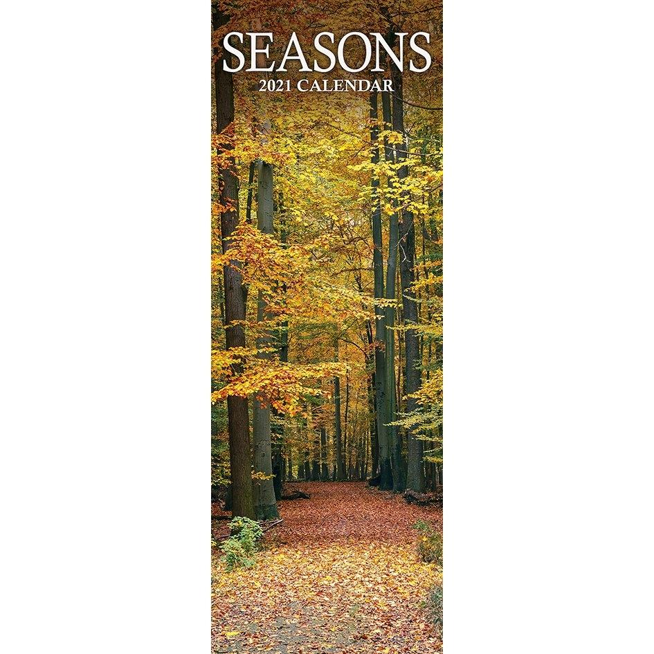 Seasons (Slim) 2021 Calendar within Ilustrate Season Calendar 2021 Graphics