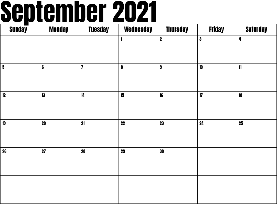 September 2021 Calendar inside Excel September 2021 Monthly Planner Template Graphics