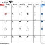 Excel September 2021 Monthly Planner Template Graphics