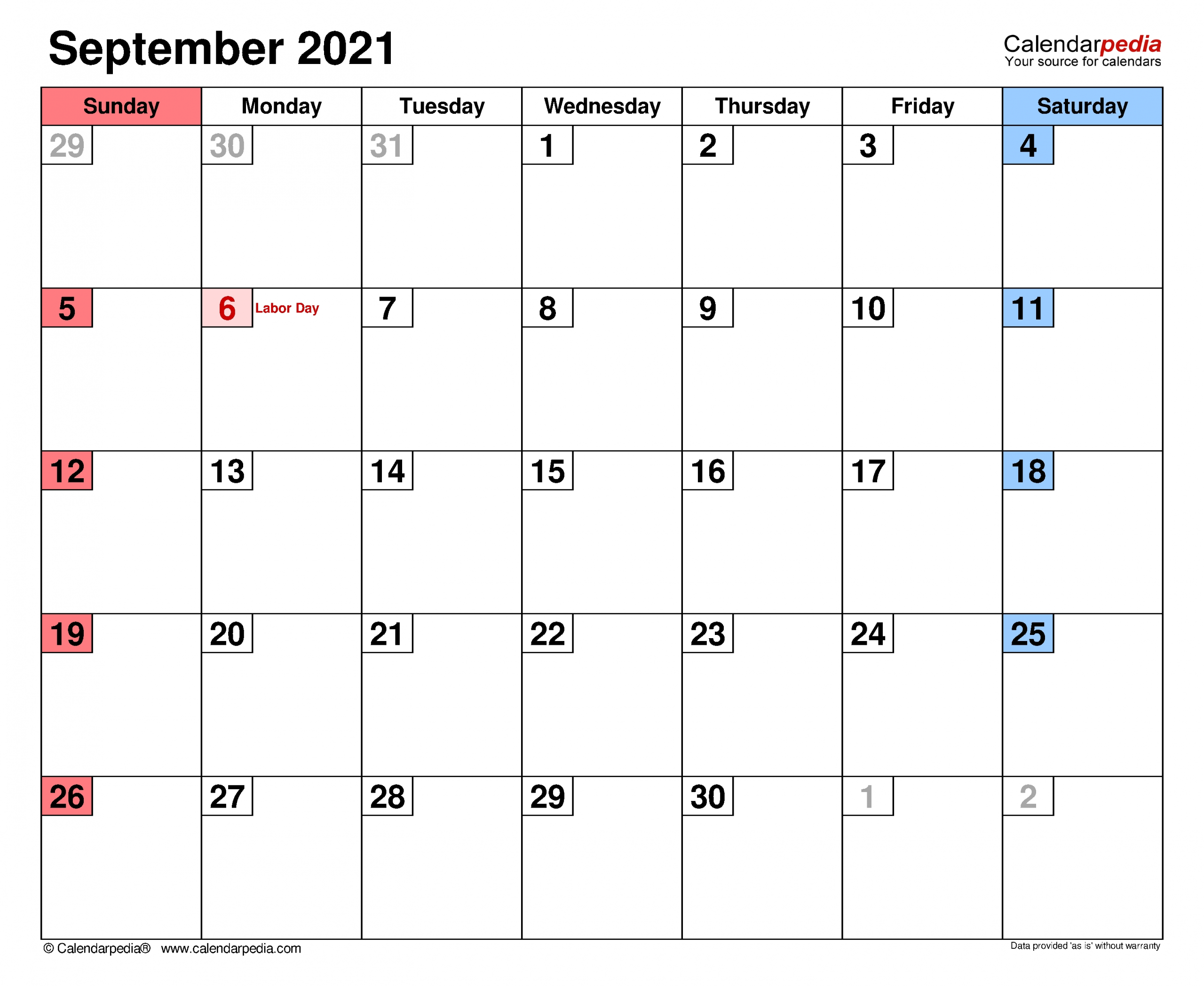September 2021 Calendar   Templates For Word, Excel And Pdf within Excel September 2021 Monthly Planner Template Graphics