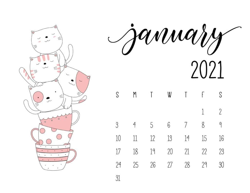Stack Of Kittens In Teacups 2021 Calendar - World Of Printables within Which Calendar Year Match 2021 Graphics