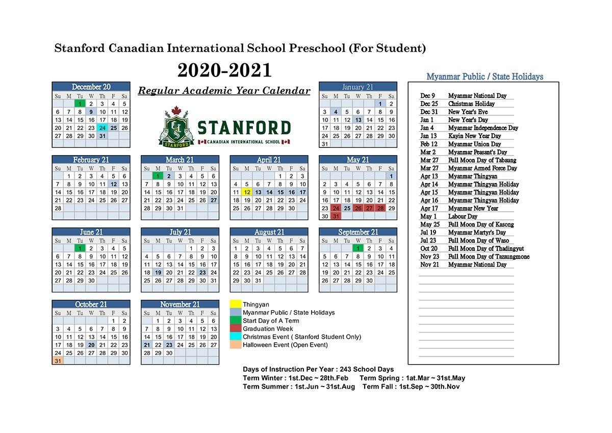 Stanford Academic Calendar 2021   Printable March regarding Broadcast Calendar 2021 Printable