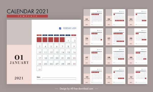 Template Kalender 2021 Adobe Illustrator - Celoteh Bijak with regard to 2021 Picture Calendar Template For Illustrator