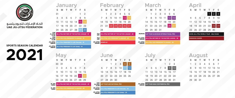 Uae Jiu Jitsu Federation intended for 2021 Broadcast Calendar For Media