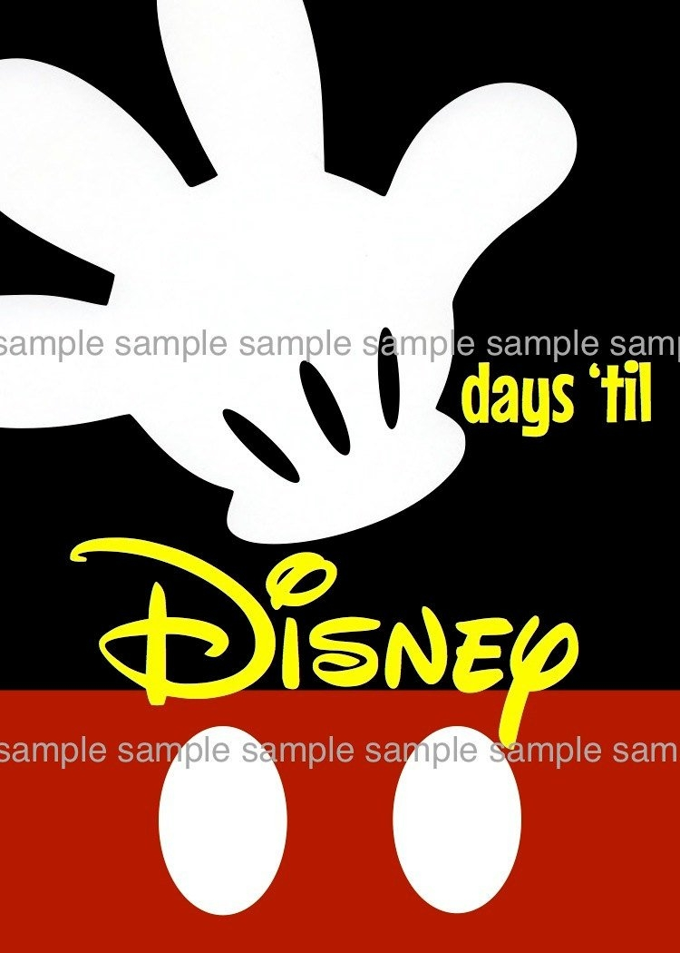 Unavailable Listing On Etsy within 180 Day Countdown To Disney
