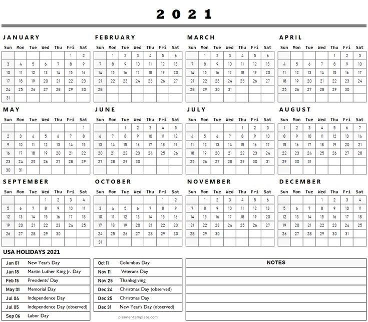 Us Federal Holidays 2021 List Template   Holidays Calendar 2021 Usa   Holiday Calendar, Federal intended for List Of Usa 2021 Holiday Image