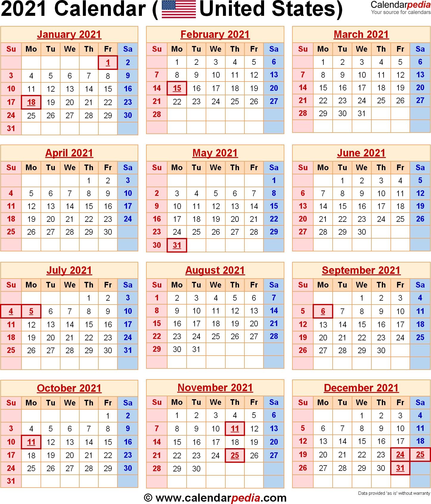 Us Government Calendar 2021 Printable | Free 2021 Printable Calendars for Bangladesh 2021 Government Calendar Graphics