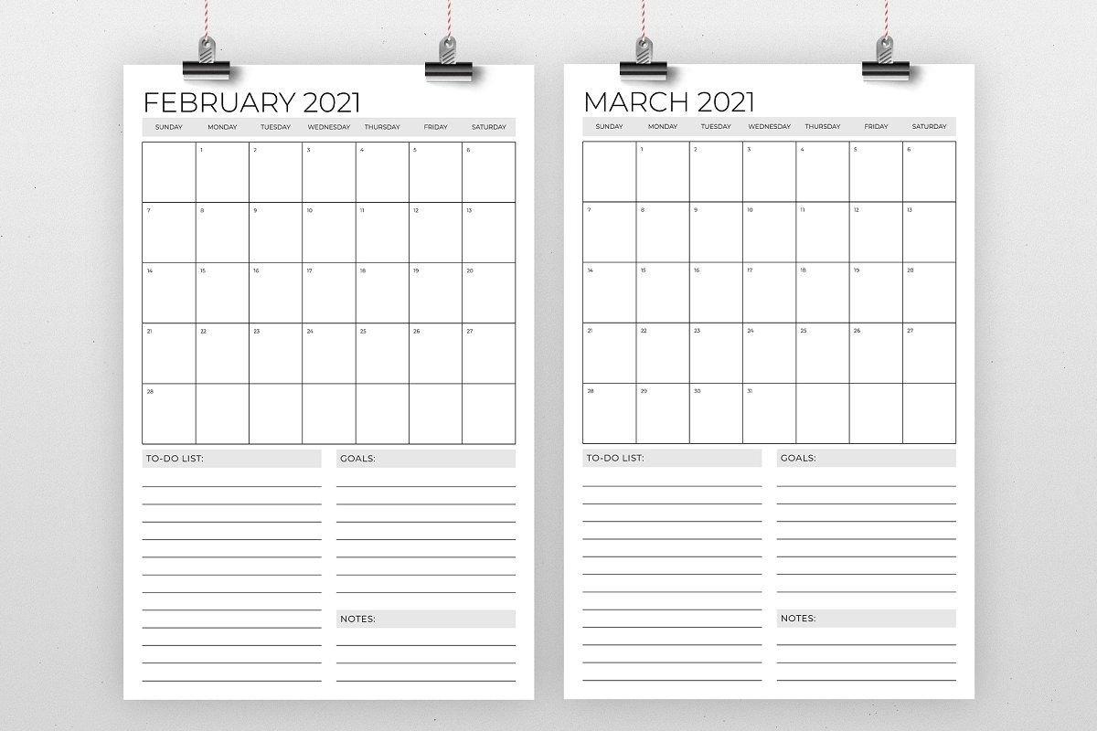 Vertical 11 X 17 Inch 2021 Calendar In 2020   2020 Calendar Template, Calendar Template, 2021 intended for 2021 Indesign Calendar Template