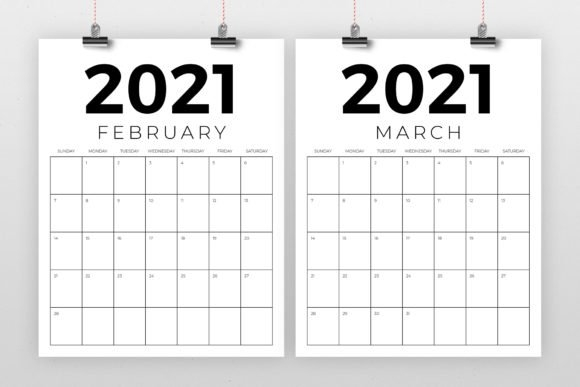 Vertical 8.5 X 11 Inch 2021 Calendar (Graphic)Running With Foxes · Creative Fabrica with regard to 2021 Excel Calendars Verticle