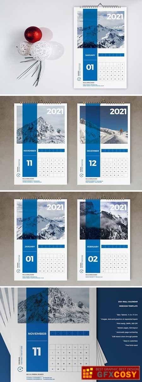 Wall Calendar 2021 Template926 » Free Download Photoshop Vector Stock Image Via Zippyshare with regard to Indesign Calendar Templates 2021