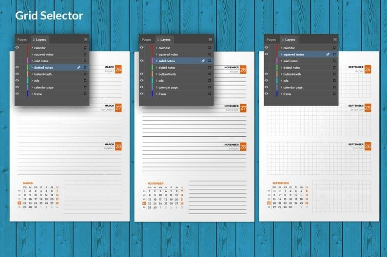 Weekly Planner 2021 Indesign Template A5 Size Week Starts On | Etsy inside Create A 2021 Calendar In Indesign