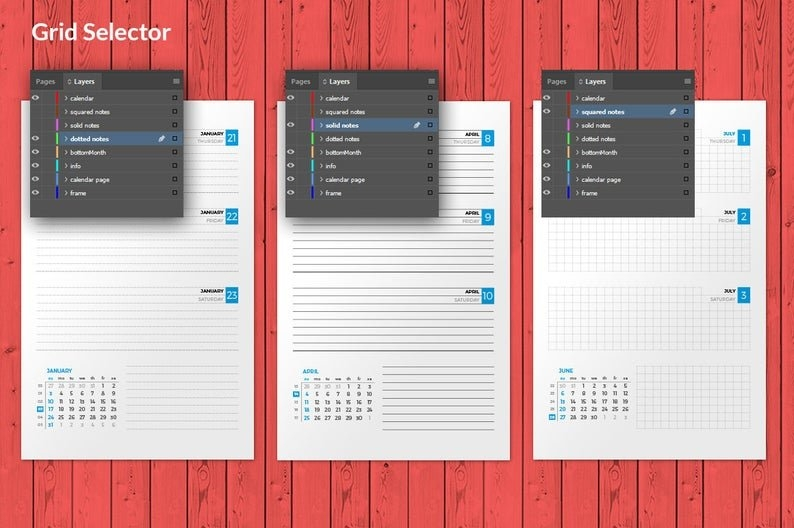 Weekly Planner 2021 Indesign Template Half Letter Size Week | Etsy within Indesign Calendar Templates 2021