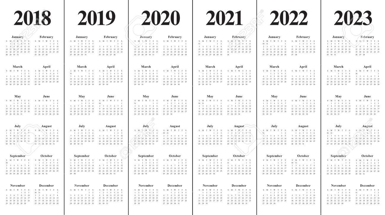 Yearly Calendar 2020 2021 2022 2023 - Calendar Inspiration Design pertaining to 3 Year Calendar 2021 2021 2022 Graphics