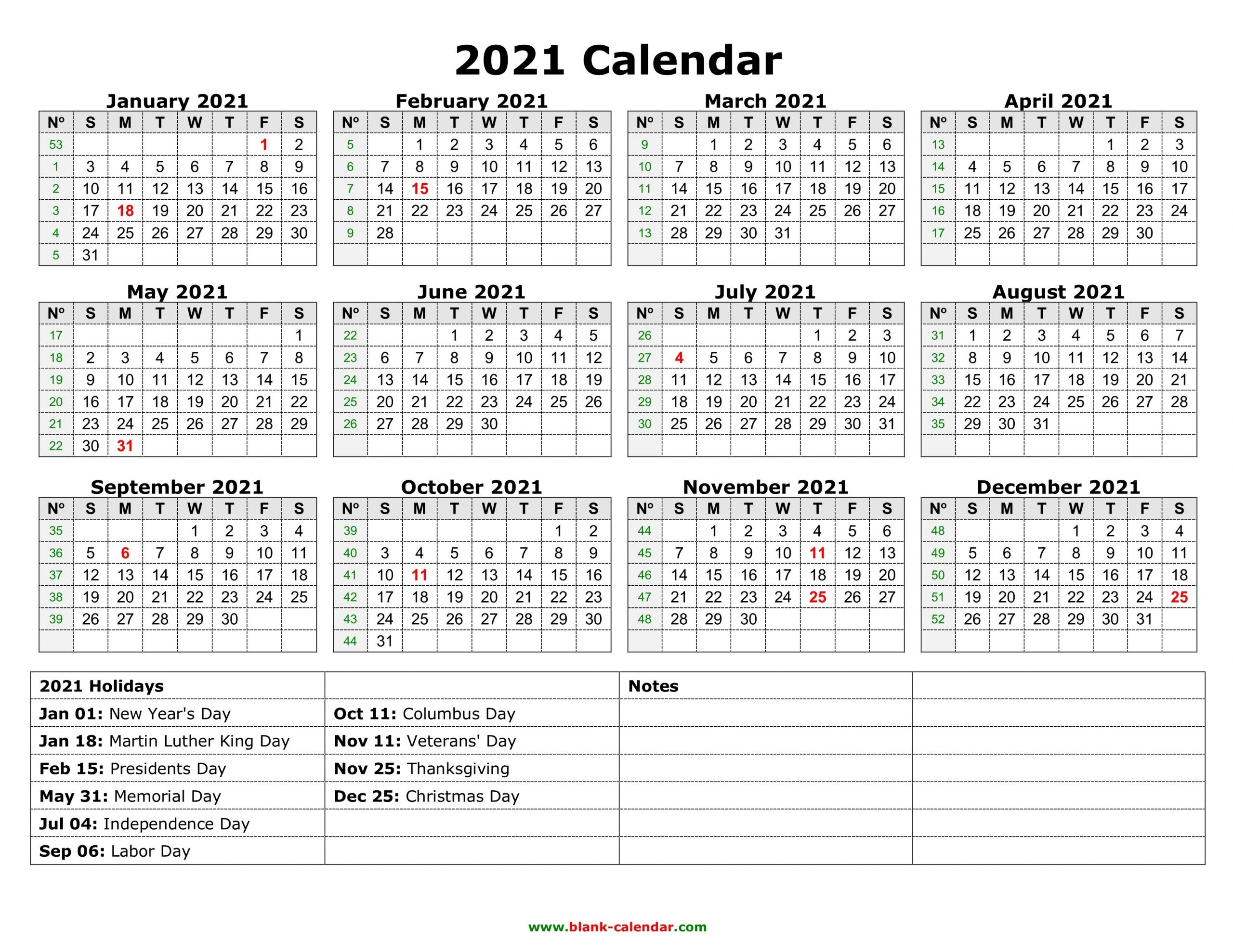 Yearly Calendar 2021 | Free Download And Print in Microsoft Photo Calender 2021 Graphics