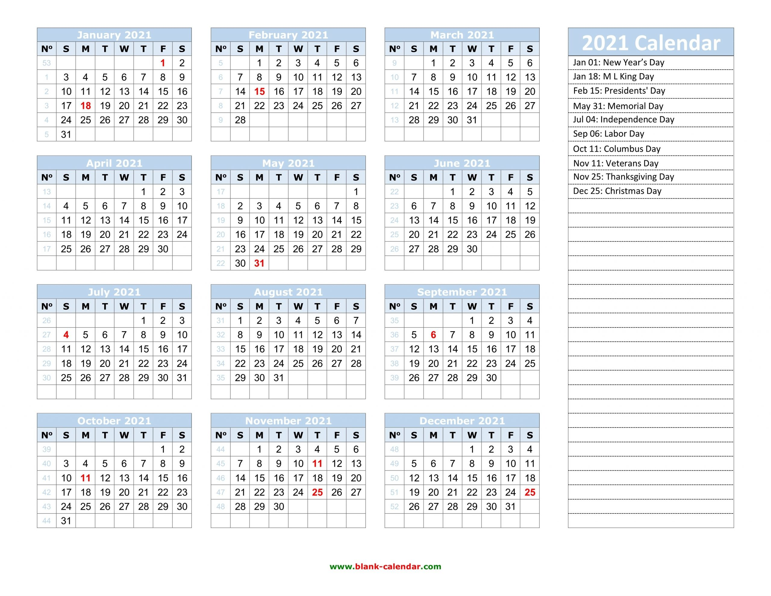 Yearly Calendar 2021 | Free Download And Print throughout Microsoft Photo Calender 2021 Graphics