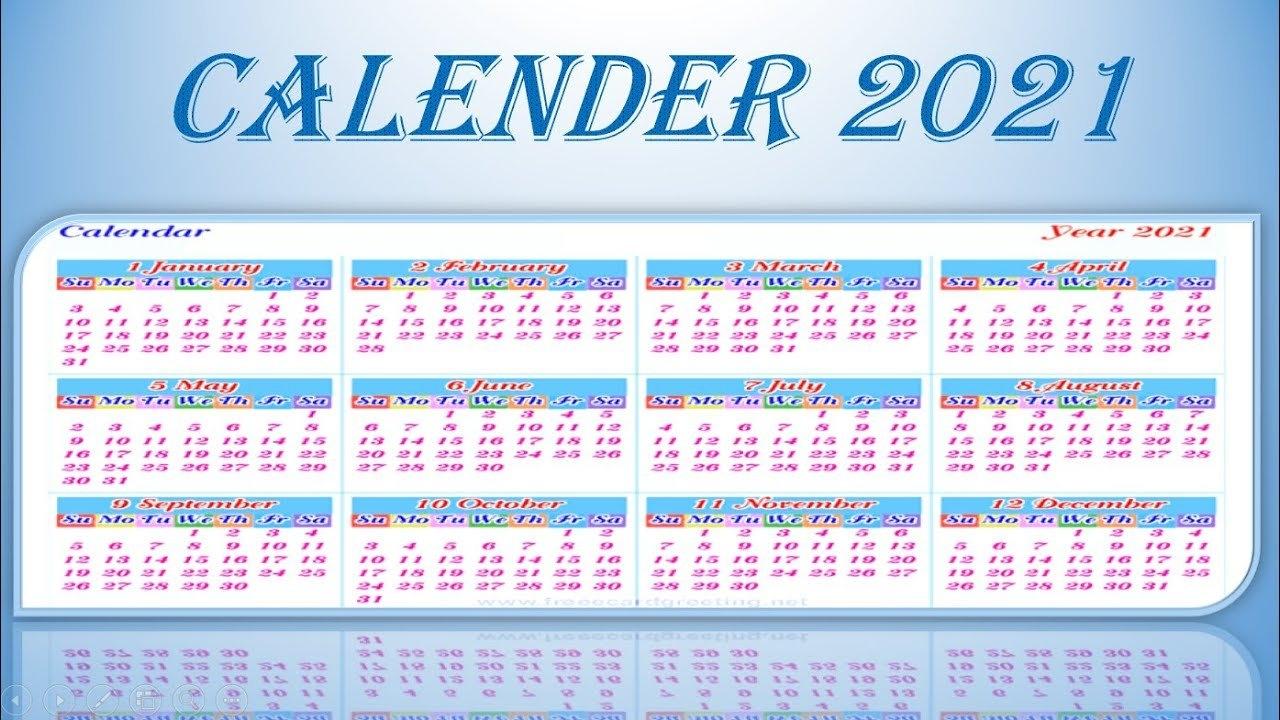 Youtube Yearly Calendar 2021   2021 Calendar inside Ilustrate Season Calendar 2021 Graphics