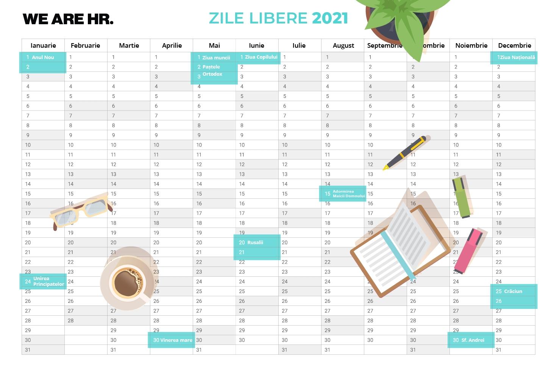 Zile Libere 2021: Când Se Fac Punți Pentru Minivacanțe? - We Are Hr with Calendar 2021 Ro Zile Libere Photo