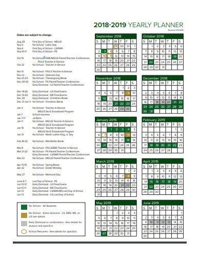 10+ Yearly Planner Templates - Pdf   Free & Premium Templates for Academic Planner Template Pdf Image