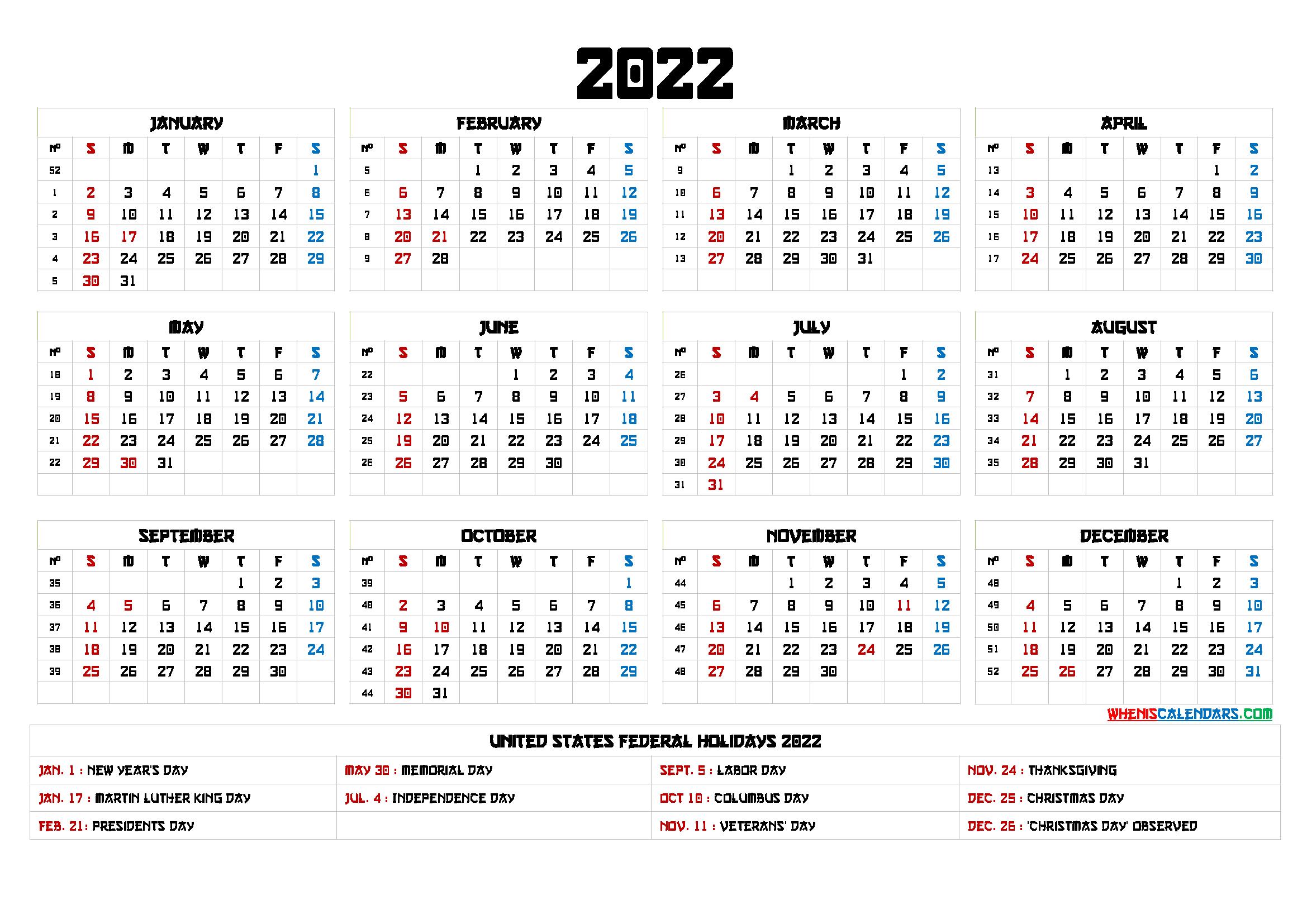 20+ 2022 Calendar - Free Download Printable Calendar intended for Printable Day Planner 2022 Image