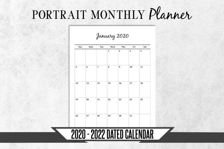 2020-2022 Dated Monthly Calendar Printable Planner (368579 inside 2022 Lifestyle Planner Calendar Photo