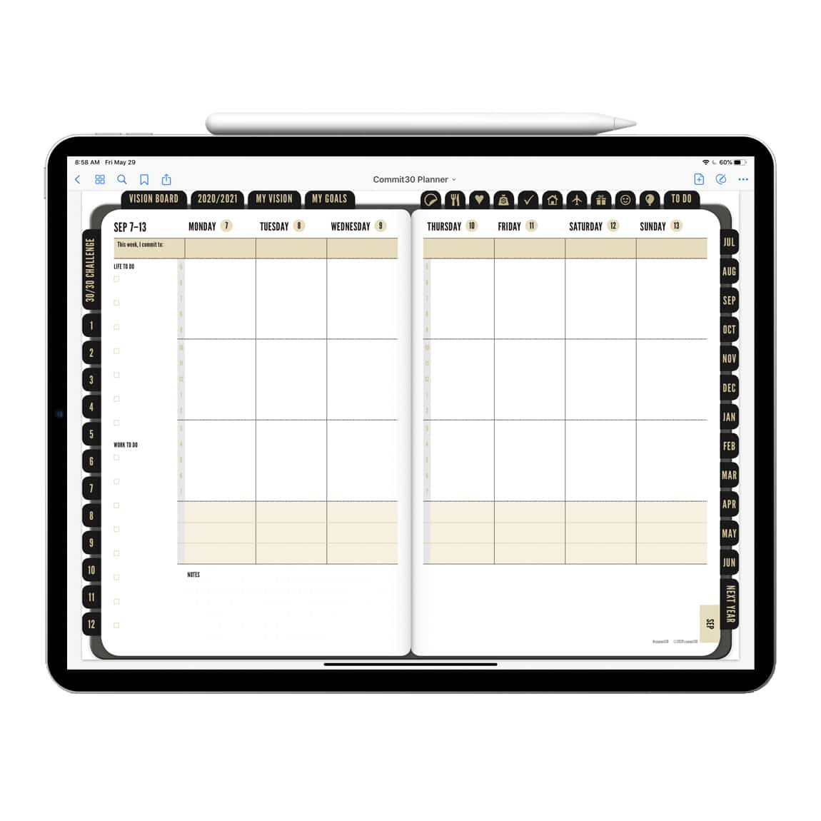 2020-'21 Digital Academic Planner Pdf (Instant Download with Free Digital Planner Pdf Dowload Graphics