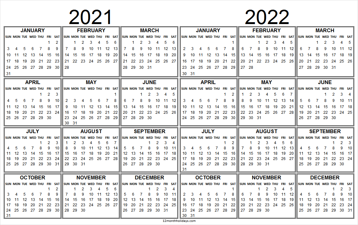 2021 And 2022 Calendar Planner Free - Blank 2021 To 2022 with 2022 Lifestyle Planner Calendar Photo