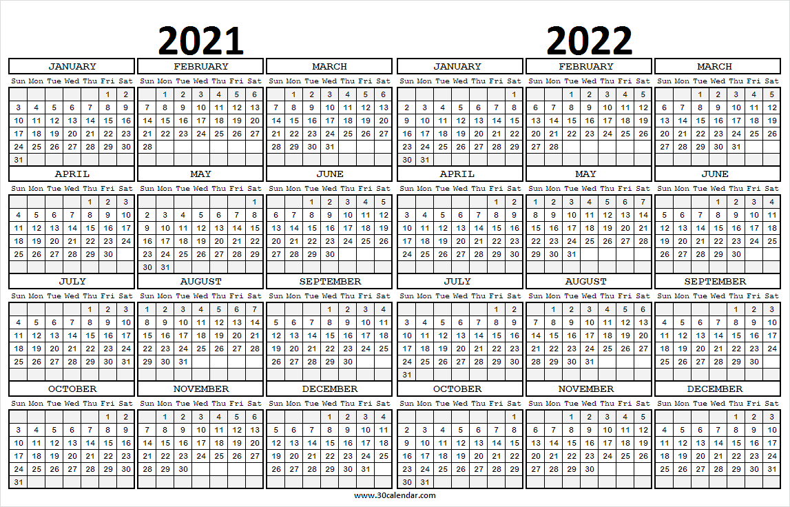 2021 To 2022 Calendar Planner - Monthly Calendar Template Free pertaining to Daily Planner 2022 Template