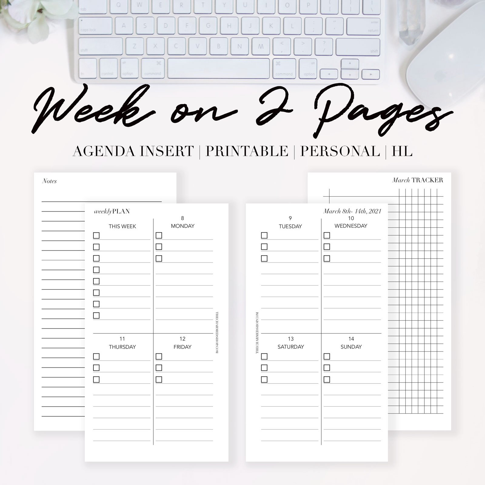 2021 Week On Two Pages Agenda {Printable Pdf} - The throughout Two Week Planner Pdf