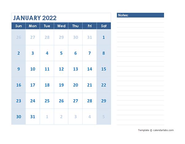 2022 Blank Printable Calendar - Free Printable Templates with regard to 2022 2022 Monthly Planner Free Printable