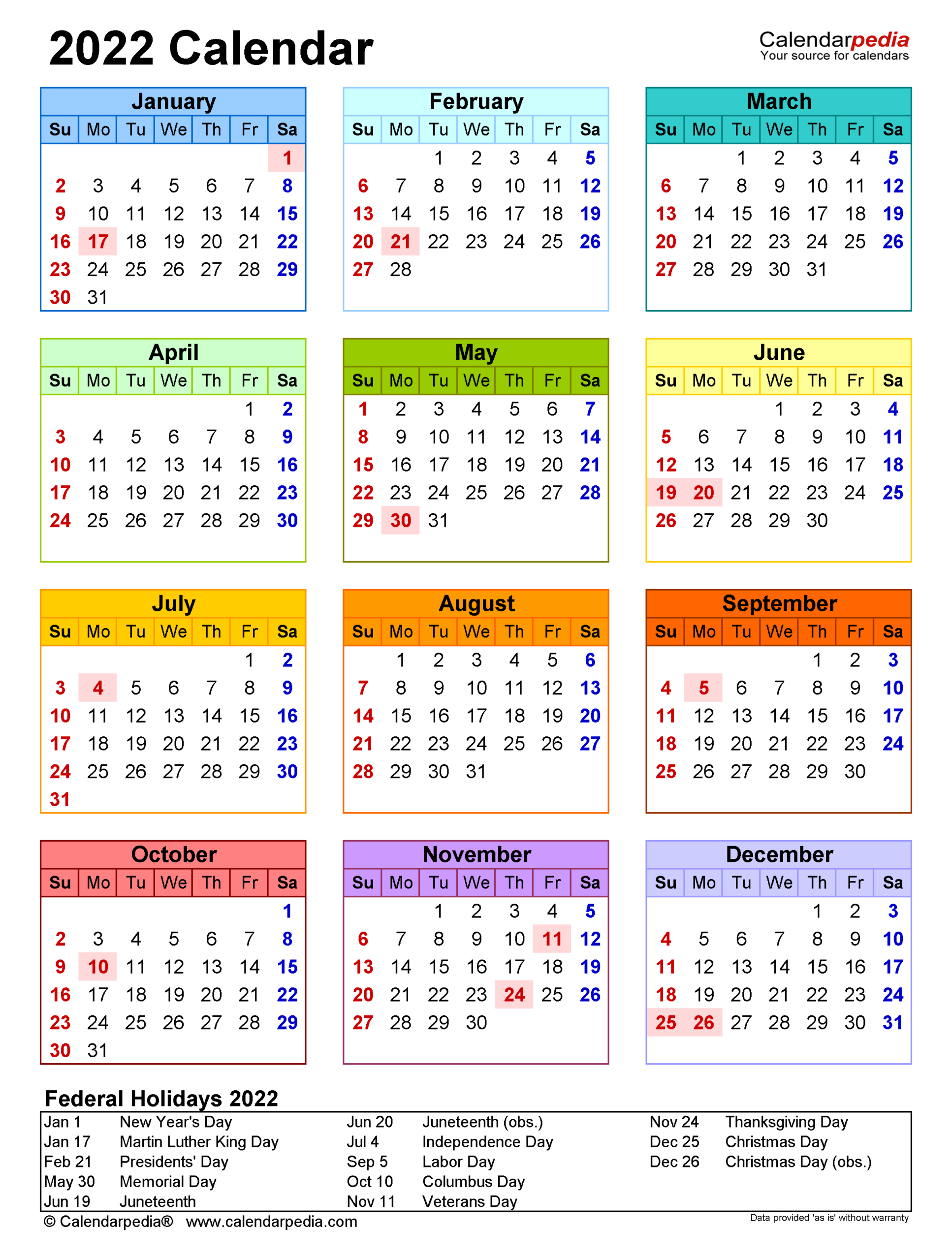 2022 Calendar - Free Printable Excel Templates - Calendarpedia intended for Print July 2022 Ckander Photo