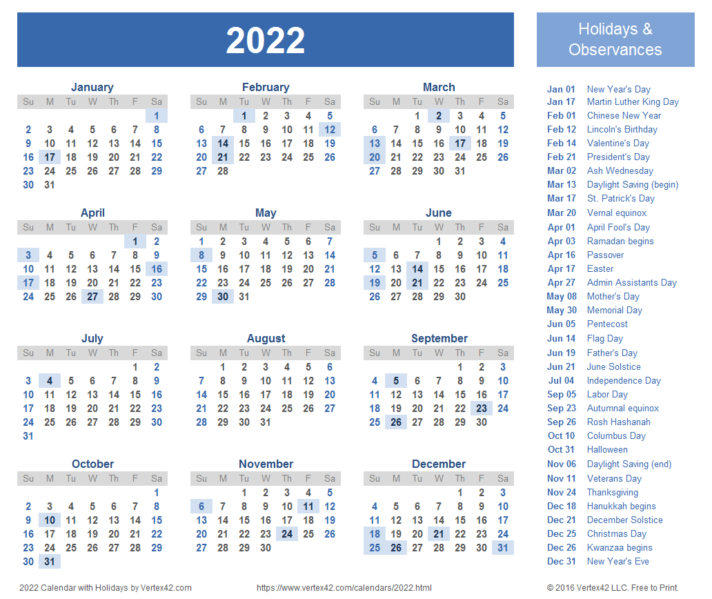 2022 Calendar Templates And Images in 2022 Lifestyle Planner Calendar