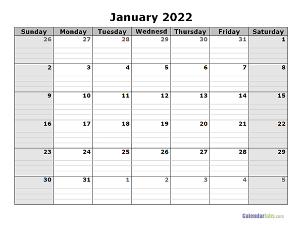2022 Free Blank Calendar - Free Printable Templates for Free Green Printable Daily Planner 2022 Pdf