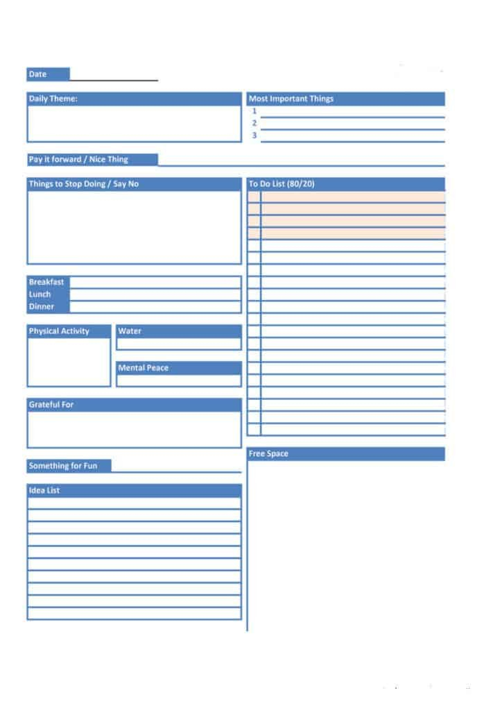 24+ Free Daily Schedule Templates & Daily Planners Word within Planner Pages Template Free Photo
