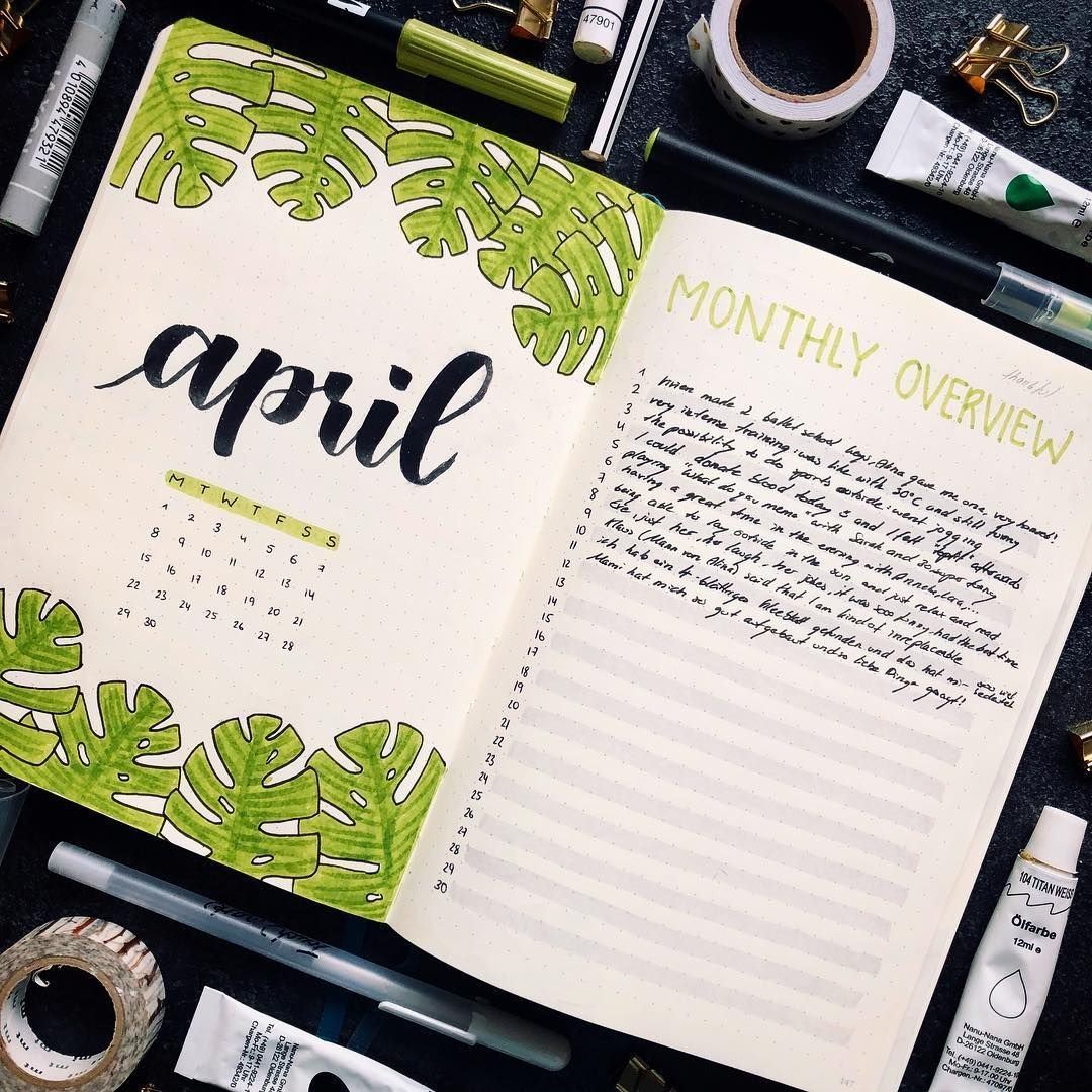 30+ April Bullet Journals - Themes To Brighten Your Month with regard to April Bullet Journal Theme