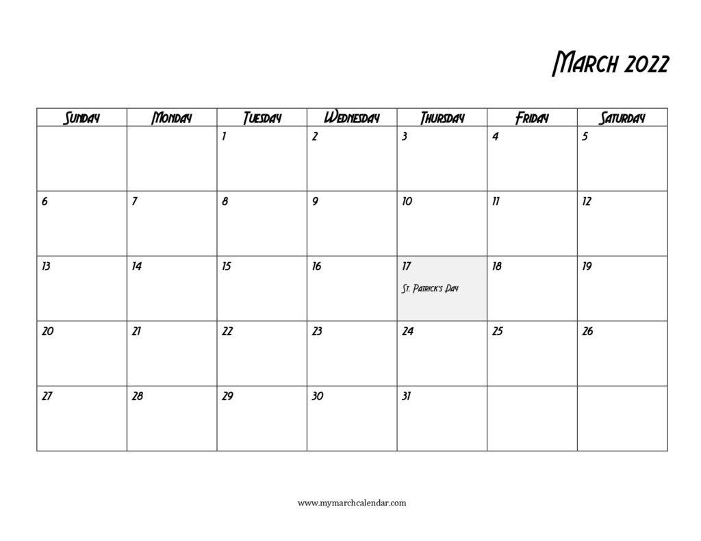 30+ March 2022 Calendar, March 2022 Blank Calendar inside 2022 March 2 Page Printable Calendar