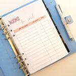 Planner Insert Printables Book Photo